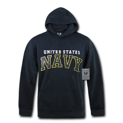 Rapiddominance US Pullover Hoodie, Navy, Medium (Navy Pullover Hooded Us Sweatshirt)