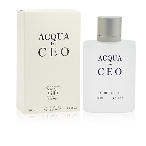 ACKUA H2O Perfume, Inspired of ACQUA DI GIO BY GIORGIO ARMANI, EDT Spray for Men,Perfect Gift, Sophisticated Masculinity,Night time&Casual Use,for all Skin Types,3.4 Fl Oz ()