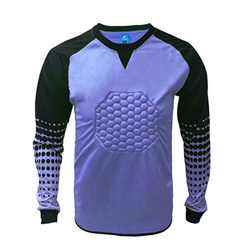 3f8811fe3c7 1 Stop Soccer Soccer Goalkeeper Goalie Shirt Youth (Medium, Purple)