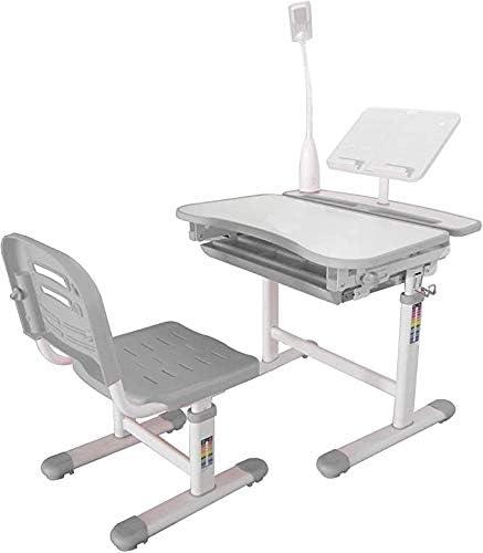 Ubbie Kids Desk and Chair Set,Height Adjustable Children Study Desk