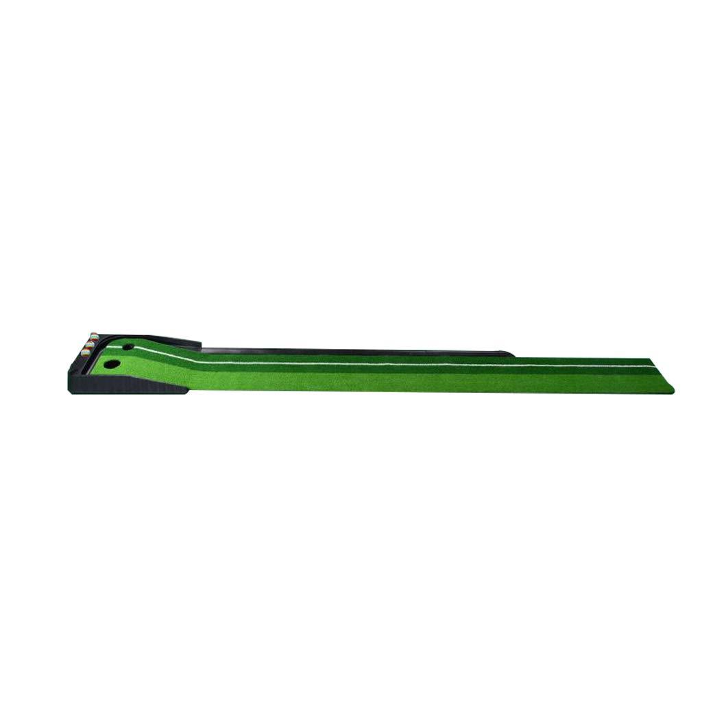ゴルフマット、ダブルホールデザイン、シミュレーショントラック、屋内と屋外の2色の草パタートレーナー、300 * 30センチメートル