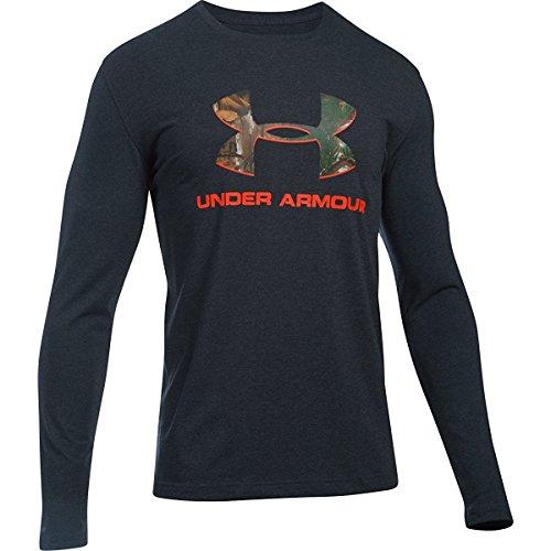 Under Armour Men's UA Camo Fill Logo Long Sleeve Tee Black T-Shirt LG