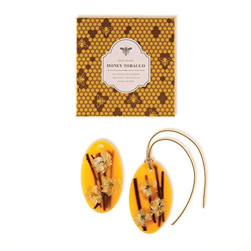 Rosy Rings Oval Botanical Wax Sachets - Honey Tobacco