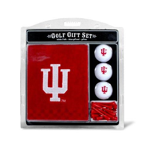 - Team Golf NCAA Indiana Hoosiers Gift Set Embroidered Golf Towel, 3 Golf Balls, and 14 Golf Tees 2-3/4