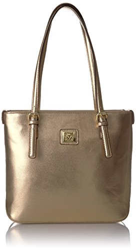 Anne Klein Perfect Tote Small Shopper, Metallic/Gold