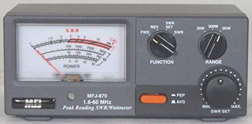 MFJ-870 SWR meter 1.8-60MHz 30//300//3000W