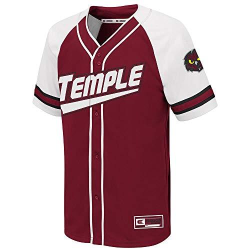 Colosseum Youth Temple Owls Wallis Baseball Jersey - M (Basketball Owls)
