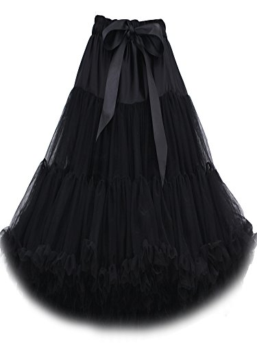 "FOLOBE Women's Tutu costume Ballet Dance Multi-Layer jupe Puffy adulte luxueux doux jupon 60 cm/23,6 "" Noir"