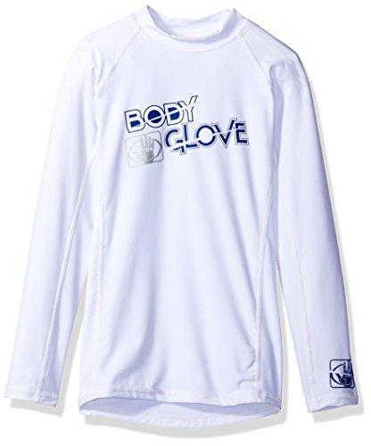 Body Glove Boys l/a Fitted Basic Rashguards, White, 10