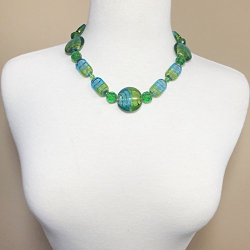 Buy glass bead necklace chunky