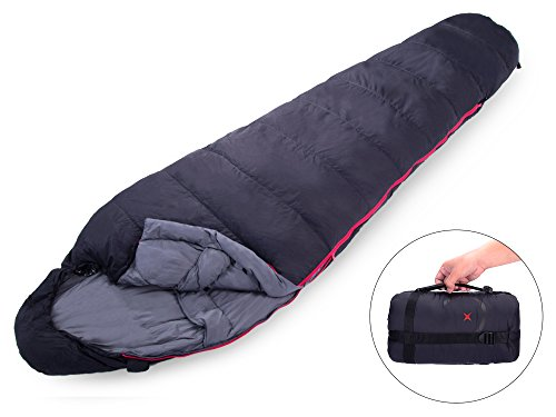 X-CHENG Ultralight Down Sleeping Bag - Warm without Weight - Save Space and Shave Weight - Can be Compressed into Ultra-small Size Easy to Carry - Waterproof, Comfort for the Indoor or Outdoor (4 Expedition Weight Zip)