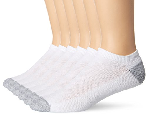 Cool Vent (Hanes Men's FreshIQ X-Temp Comfort Cool Vent No Show Socks, White/Grey, Sock Size: 10-13/Shoe Size:6-12 (Pack of 6))