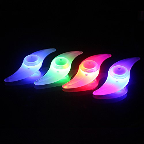 ShineMe 4pcs Bike Wheel Lights Waterproof Spoke Bicycle Lights Wire Tyre LED Neon Light Lamp Bulb - Red Blue Green and Multi-color Used for Safety and Warning(Ramdon Color)