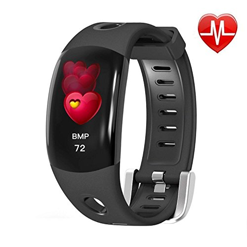 Kingkok Fitness Tracker, Activity Tracker Watch Smart Bracelet Band with Heart Rate Monitor, IP68 Waterproof Health Tracker, Heart Rate Watch, Calorie Counter, Pedometer for Women Men, Android iOS by Kingkok