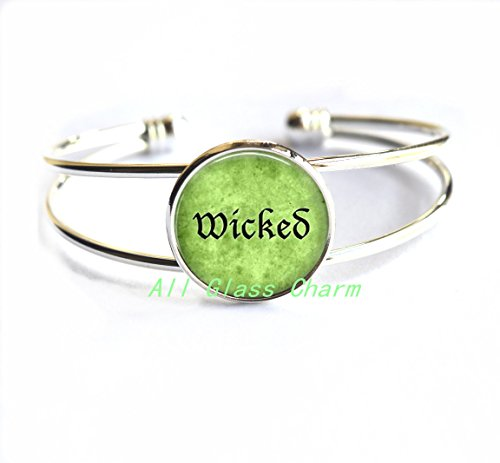 Elphaba Defying Gravity Costume (Charming Bracelet,Halloween Costume Bracelet Bracelets - Wicked - Wicked Bracelet - Wicked Bracelets - Witchy Woman - Witch Jewelry,AS030)