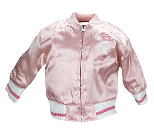 Adidas Michigan State Infant Girls Varsity Satin Pink Jacket (24 months)