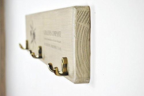Wooden coat rack with vintage bee print by arborala (Image #2)