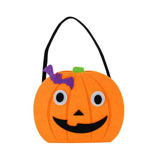 Halloween DIY Pumpkin Candy Bag Tote Bucket Basket Halloween Decoration Ornament Props Party Gift Bags,Brother ()