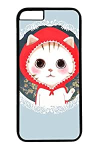 Cat Wearing A Red Hat Slim Hard Cover for iPhone 6 Plus Case ( 5.5 inch ) PC Black Cases