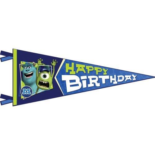 Disney Monsters U Party Birthday Pennant 1 per Pack