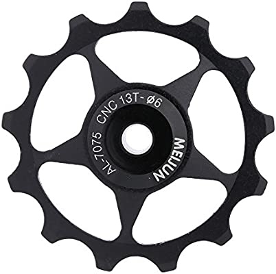 2Pcs Bicycle 13T Aluminum Alloy Bearing Jockey Wheel Rear Derailleur Pulley