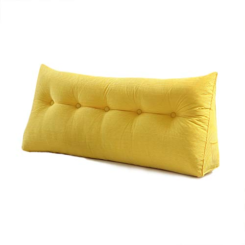 Soft Headboard Cushy Backrest Positioning Support Reading Pillow Daybed Pillow Filled Triangular Bolster Wedge Bed Cushion