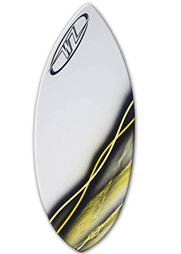 Wave Zone Glide - 48'' Fiberglass Skimboard for riders up to 160 lbs - Yellow by Wave Zone Skimboards