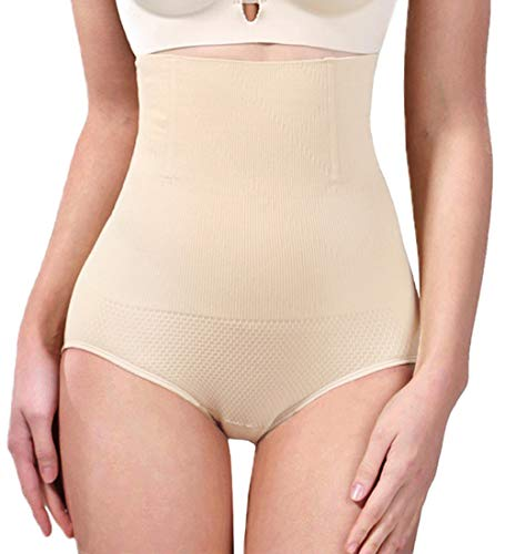 AtRenty Tummy Control Shapewear Shaper Bodysuit Slimming High Waist Panties Seamless Briefs for Womens Nude ()