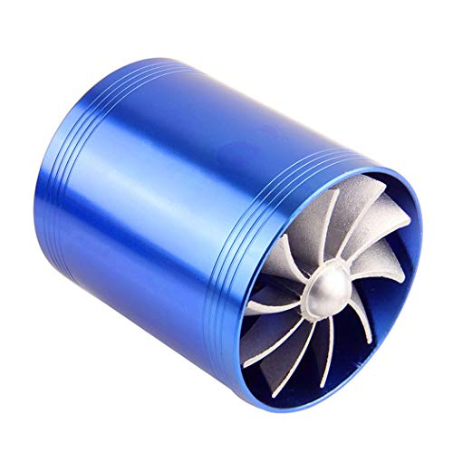 Fansport Air Intake Fuel Saver Fan Double Supercharger Turbine Car Turbo Supercharger: Amazon.co.uk: Sports & Outdoors