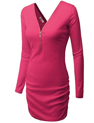 [Doublju Womens Light Weight Swim Maternity FUCHSIA Dress,XL] (Maternity Fancy Dress Uk)