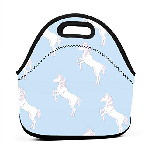 HTHR Light Unicorn Lunch Bag Cute Reusable Portable Insulated Lunch Bag Outdoor Picnic Food Bag for Kids, Boys, Girls, Women and Men