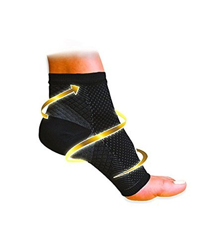Pack of 2 - Compression Foot Ankle Angel Sleeve Anti Fatigue Compression Foot Sleeve Sock for Ankle Swelling Plantar (L/XL) (As Seen On Tv Socks For Plantar Fasciitis)