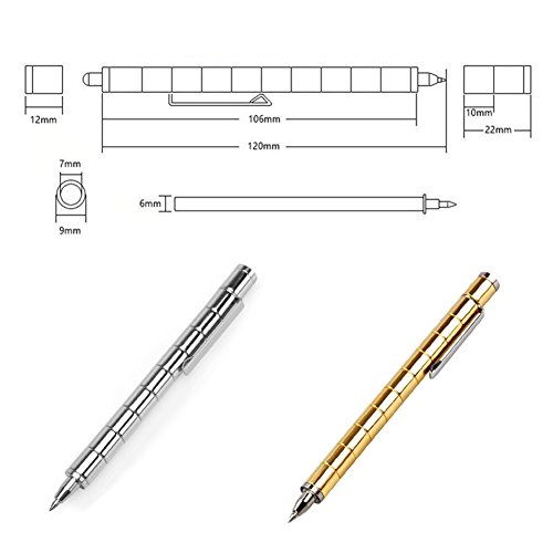 Magnetic Polar Pen, Stylus Pen, Magnet Gel Pen and Touch Screen Pen, Fidget Toy, can be Transformed into a Variety of Creative (Silver) by Empowline (Image #4)