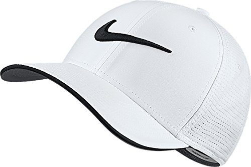 Nike Golf Men's 2017 Classic 99 Mesh Fitted Cap, White/Black, Small/Medium
