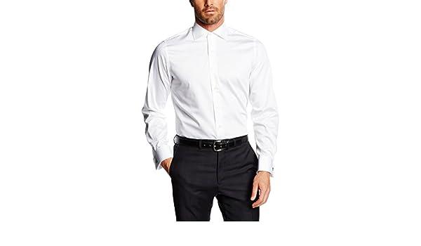 Mirto Venecia Camisa de Vestir, Blanco, 37 para Hombre: Amazon.es: Ropa y accesorios