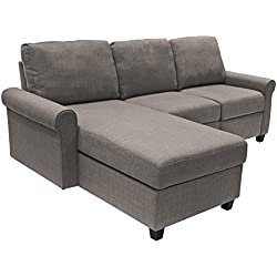 Serta Copenhagen Reclining Sectional with Left Storage Chaise - Gray