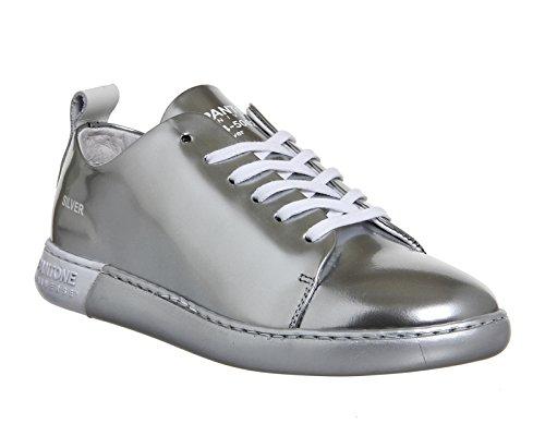 Mode Pantone Baskets Femme Leather Pour Silver fwnUqAvn