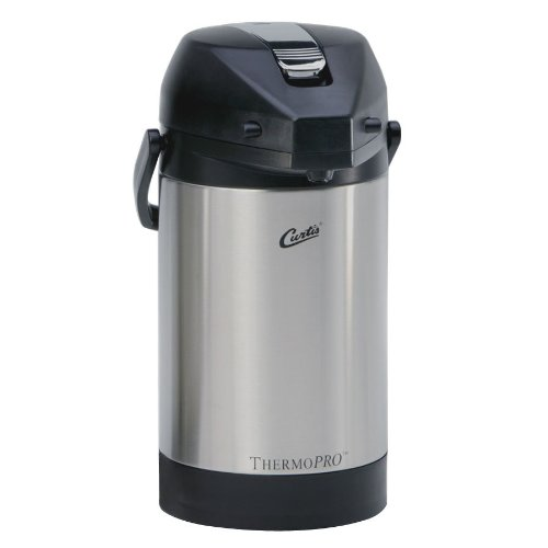 Curtis TLXA2501S000 2.5 Liter Stainless Steel Low Profile Lever Airpot with Liner - 6/Case (Airpot Low Profile)