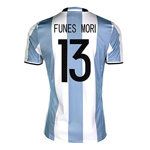 表現彼女の夢Funes Mori #13 Argentina Home Soccer Jersey Copa America Centenario 2016/サッカーユニフォーム アルゼンチン ホーム用 フネス?モリ 背番号13