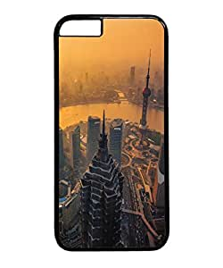 VUTTOO Iphone 6 Plus Case, Chinese Metropolis Sunset Cityscape PC Hard Case for Apple Iphone 6 Plus 5.5 Inch Black