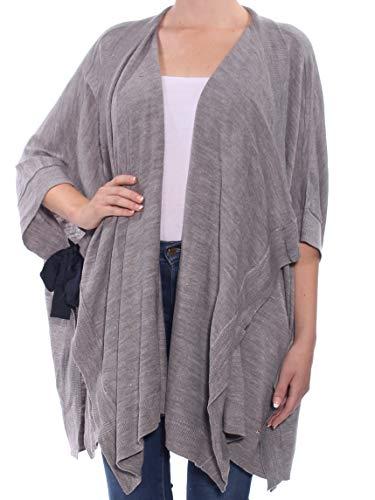 Tommy Hilfiger $100 Womens New 1250 Gray Bell Sleeve Open Cardigan Sweater M B+B