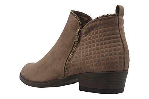 Fitters Footwear - Botas de tela para mujer marrón pardo