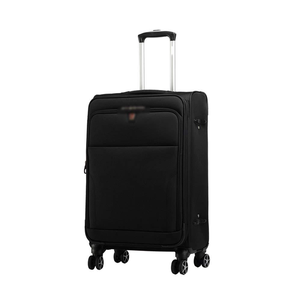 ZHAOSHUHLI スーツケースオックスフォードブラケットボックスユニバーサルホイール8ホイールビジネススーツケースタイロッド肥厚大容量黒旅行トロリーケース (サイズ さいず : 20 inches) 20 inches  B07R1KKRLH