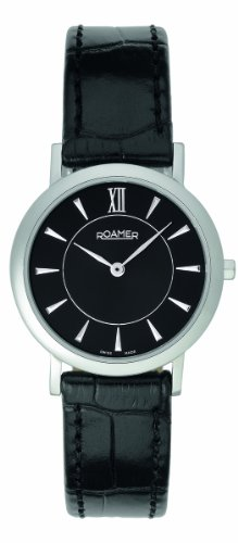 Roamer of Switzerland Women's 934857 41 55 09 Limelight 28mm Black Dial Leather Watch