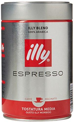 Illy Ground Espresso Medium Roast, 8.8 (Dutch Ground Coffee)