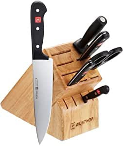 Wusthof gourmet 7 piece knife set with 13 slot for Wusthof kitchen essentials set 7 piece