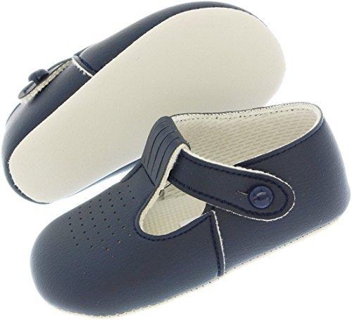 cr/ème//Ivoire Occasions sp/éciales Mariage bapt/ême Chaussures par Early Days Baypods Luxe Britannique Fait b/éb/é gar/çon Bleu Ciel Bleu Marine