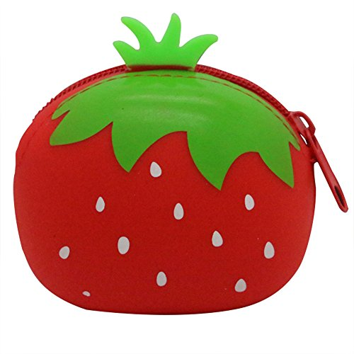 Silicone Orange Ananas Zipper Creative Fruit Wallet Ruikey Sac Cartoon FZW5qgRnxw