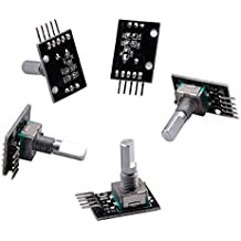 CTYRZCH 5 PCS KY-040 Rotary Encoder Module Brick Sensor Development For Arduino TE173