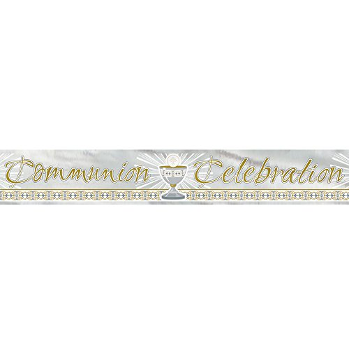 (12ft Foil Gold & Silver Radiant Cross First Communion)